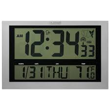 Digital Atomic Desk Clock La Crosse Technology Jumbo Digital Atomic Wall Clock With