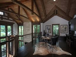 modern rustic homes lake bluff lodge completed rustic home office atlanta by