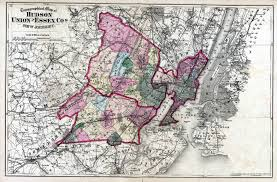 Map Of New York State Counties by New Jersey Historical Maps
