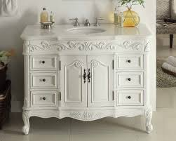 42 Inch Bathroom Cabinet 42 Benton Colection Antique White Beckham Bathroom Sink Vanity