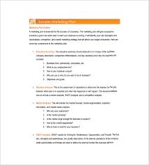 simple marketing plan template u2013 12 free sample example format