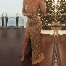 gold maxi dress aliexpress buy design spaghetti womens sequin