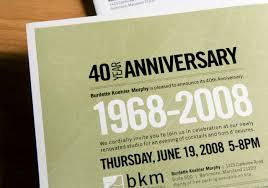 40th wedding anniversary invitation sample inspiration emuroom