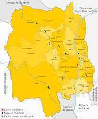 Santa Fe Map Roman Catholic Archdiocese Of Santa Fe De Antioquia Wikipedia