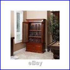 Glass Gun Cabinet Gun Cabinet Display 12 Rifles Locking Glass Doors Drawers Lights Sale