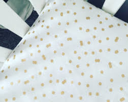 Gold Polka Dot Bedding Gold Bedding Etsy