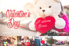 teddy valentines day happy girl with teddy happy s day free stock