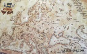 Old Europe Map by Fantasy Styled Map Of Europe Fantasy Gift Map Geek Gift