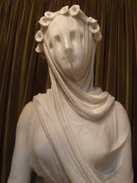 statue with marble sculpture the veiled strazza rebrn