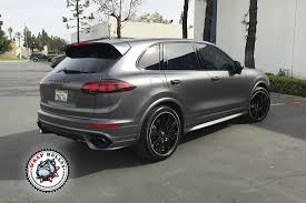 porsche slate gray metallic matte car wraps wrap bullys