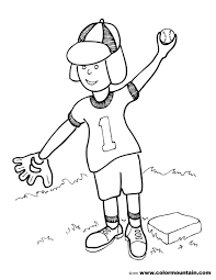 baseball pitch coloring sheet create a printout or activity