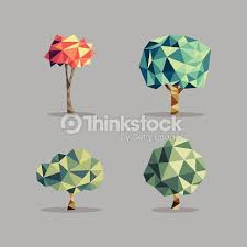 triangle abstract tree set vector thinkstock