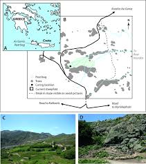 Map Of Crete Greece by Fig 1 A Location Of Asi Gonia Peat Bog In Crete Greece B