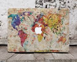World Map Decal by Macbook Decal Map World Map Decal Apple Sticker Macbook Air