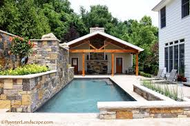 Pool Design Pictures by St Louis Pool House Design Poynter Landscape