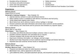 Sample Resume For Delivery Driver by Resume Samples Parts Delivery Driver Resume Courier Driver