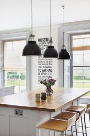 Country Island Lighting Country House Meets Chic Modernity Country Houses Kitchen