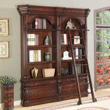 Library Bookcases With Ladder The Versailles Library Corner Bookcase Set 15361