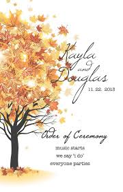 fall wedding programs fall wedding program and reception placards on etsy 75 00