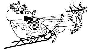6 images christmas sleigh clip art printable santa claus