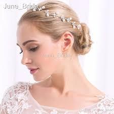bridal headwear cheap pearl rhinestone wedding bridal headband