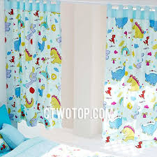 Organic Cotton Curtains Organic Cotton Best Room Baby Blue Dinosaur Curtains