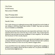 landlord reference letter template templatezet