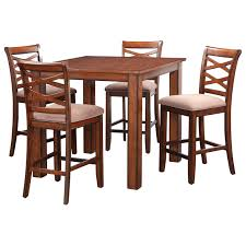 Rustic Pub Table Set 3 Piece Bistro Set Kitchen Chair Table Modern Industrial Rustic