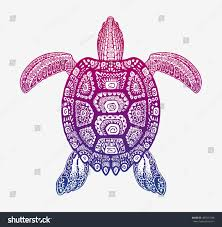 decorative ethnic turtle ornamental pattern vector stock vector