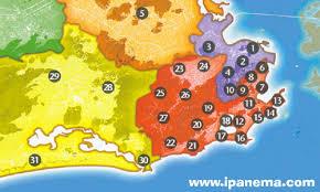 city map of brazil www ipanema clickable city map of de janeiro brazil