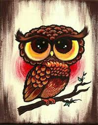 colorful owl on tree branch by brittany morgan bird canvas art