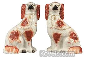 staffordshire porcelain dogs antique best 2000 antique decor ideas