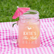 hen party customised glass mason jar forever bespoke