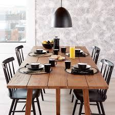 trestle teak dining table unison