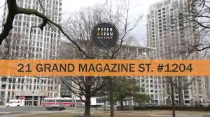 for sale suite 1204 21 grand magazine st toronto youtube