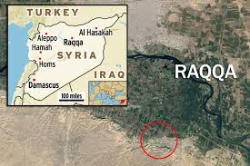Raqqa Syria Map by Isis Hit List Mirror Online
