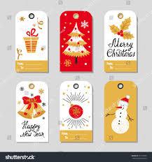 christmas gift tags set vector collection stock vector 511376056