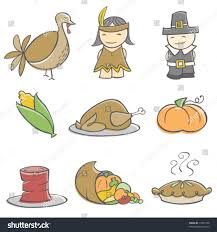 doodle thanksgiving elements stock vector 17849158