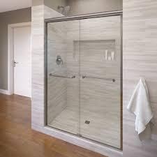48 Inch Glass Shower Door Infinity Semi Frameless 1 4 Inch Glass Sliding Basco Shower Doors