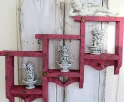 Distressed Wood Shelves by Red Wall Shelf Wood Shelves Shelf With Pegs Key Shelf Small