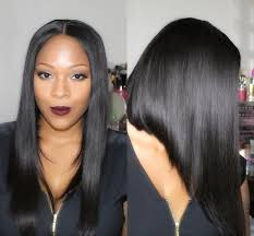 part down the middle hair style medium hair ideas with sexy middle part bob wig myfirst wig youtube