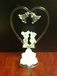glass wedding cake toppers 245 best wedding cake toppers images on cake wedding