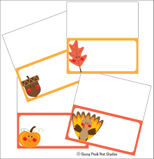 the sassy pack rat thanksgiving place card printable freebie