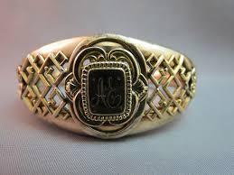 Monogrammed Bangle Bracelet Antique Victorian Fmco Gold Filled Bangle Bracelet Monogram Ae
