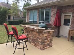 how to build a outdoor kitchen island cabinet green egg kitchen big green egg island in houston