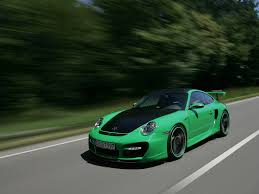 2007 techart gtstreet based on porsche 911 997 turbo green front