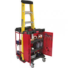 Cabinet Tools Modern Garage Organizing Ideas With Rubbermaid Ladder Utility Cart