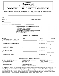 100 standard service contract template 23 agreement letter
