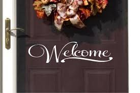 welcome vinyl wall decal vinyl for you door vinyl