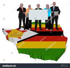Zimbabwe Map Business Team Sign On Zimbabwe Map Stock Illustration 61735549